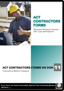 ACT Contractors Forms on Disk Software for California