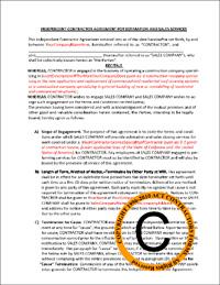 Contractor independent salesperson subcontractor agreement article on independent contractor agreements altavistaventures Gallery