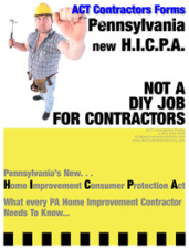 Free PA Home Improvement Consumer Protection ACT Information for Pennsylvania Home Improvement Contractors